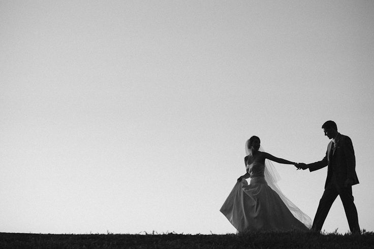 I love this silhouette from a recent wedding.