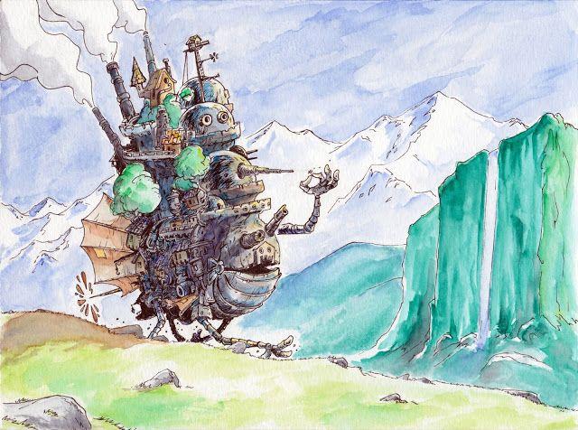 Howl's Moving Castle Fanart by Pueblo