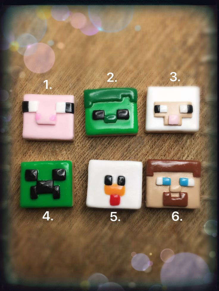 For boy/girl Gamer Polymer clay Minecraft tile brooch, magnet, keyring, pendant charms by Arboischarms on Etsy https://www.etsy.com/uk/listing/452584498/for-boygirl-gamer-polymer-clay-minecraft