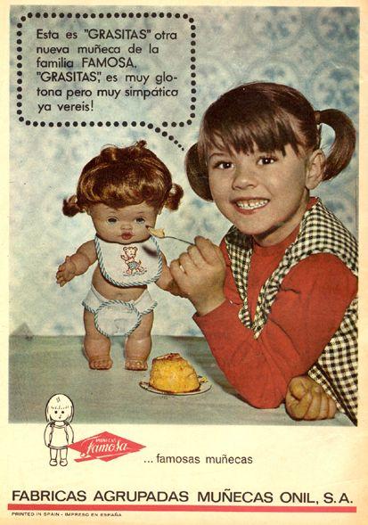 Ad #anuncio #vintage #grasitas #publicidad #1966 #juguetes #muñecas #toys #dolls #Famosa
