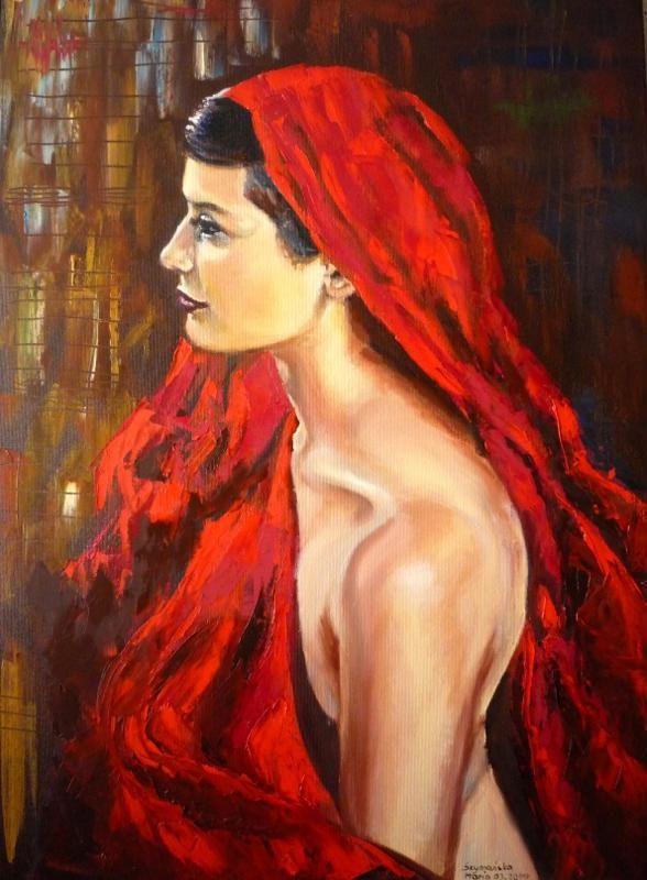 ''Czerwona chusta '' http://artpoland.ning.com/profile/MariaSzymanska