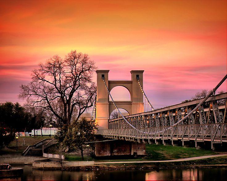 Historic Waco Suspension Bridge Photo By Wendell Samford