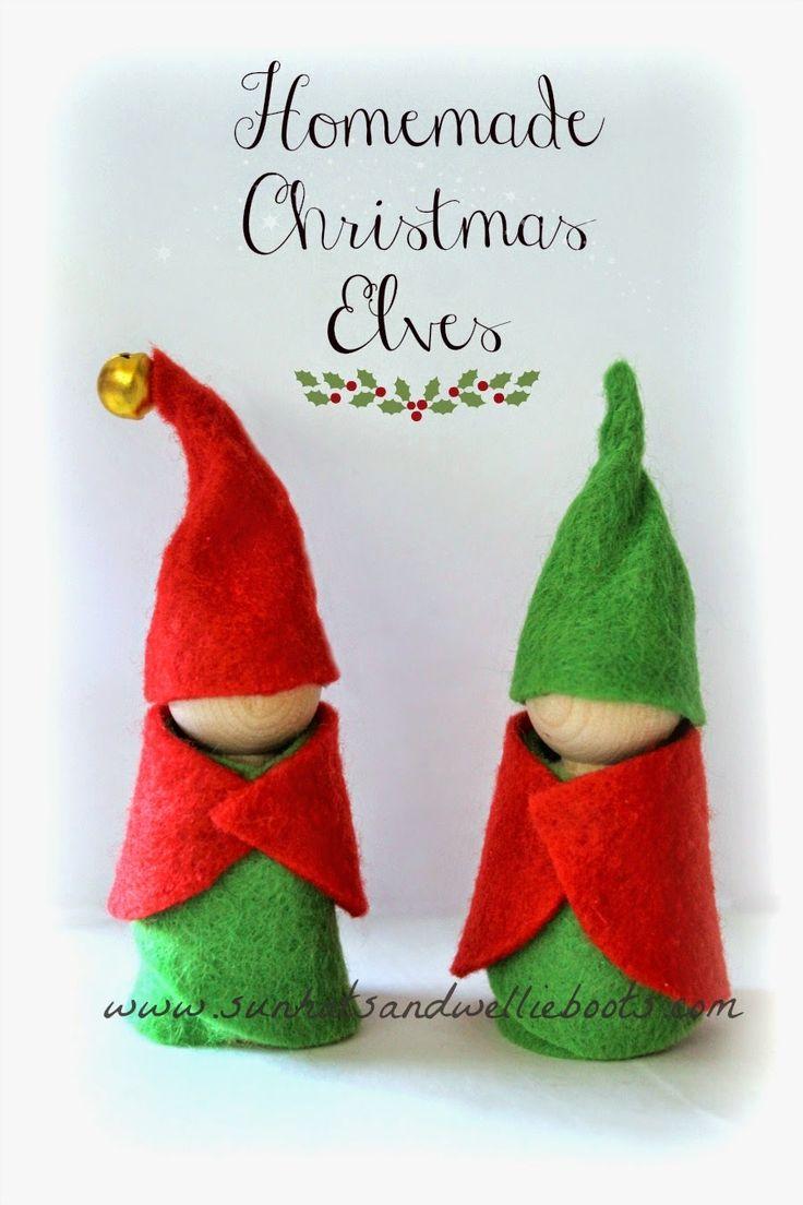 Christmas Elves (simple no-sew craft)