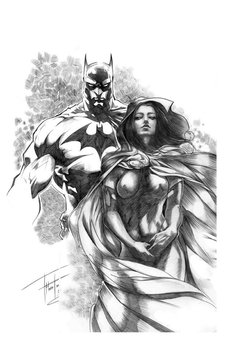 BATMAN & RAVEN BY ROD THORNTON Comic Art  Auction your comics on http://www.comicbazaar.co.uk