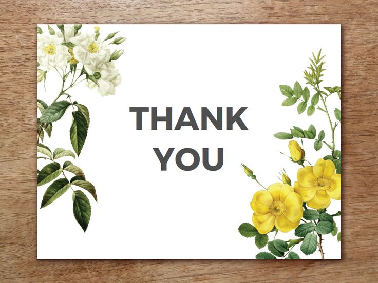 A vintage rose themed thank you card template from e.m.papers. Just download the PDF, print, cut and fold!