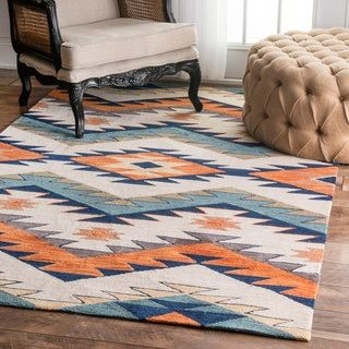 Shop for nuLOOM Handmade Southwestern Pyramid Multi Rug (7'6 x 9'6). Get free shipping at Overstock.com - Your Online Home Decor Outlet Store! Get 5% in rewards with Club O!