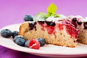 Mixed Berry Sour Cream Cake