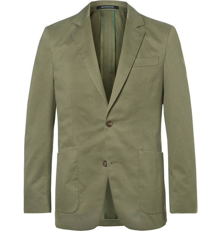 Richard James - Green Slim-Fit Cotton-Twill Suit Jacket