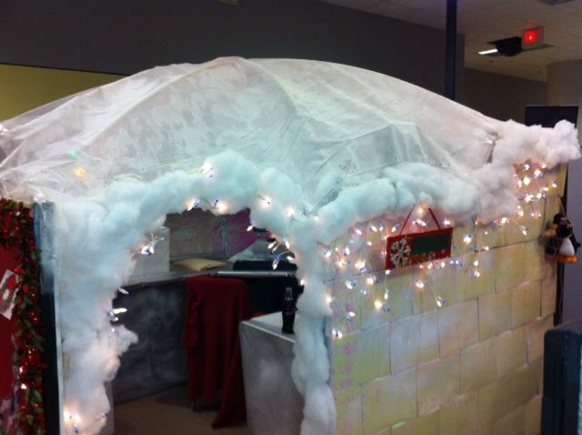 Igloo Cubicle. Office Cubicle DecorationsChristmas ...
