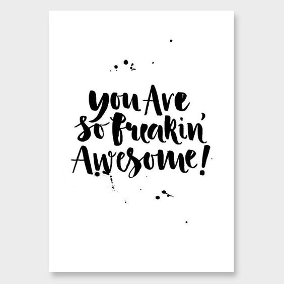 kate hursthouse | you are so freakin awesome print:
