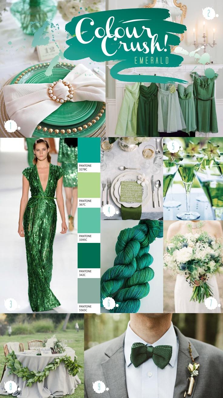 Paperknots 'Colour Crush Chronicles' #Emerald #wedding ideas