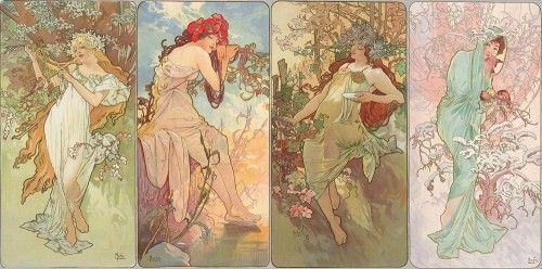 The Seasons, 1896 (www.muchafoundation.org)