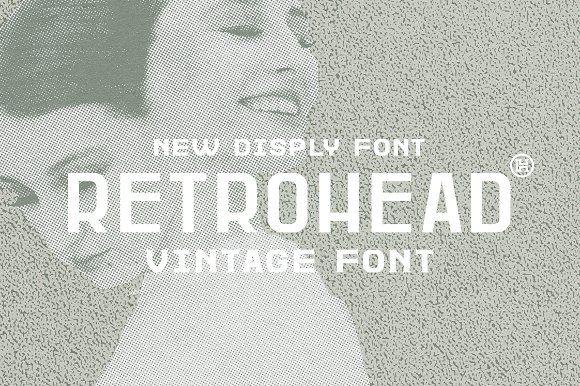 Retrohead Vintage Font Typeface Instagram Font Vintage Fonts Types Of Lettering