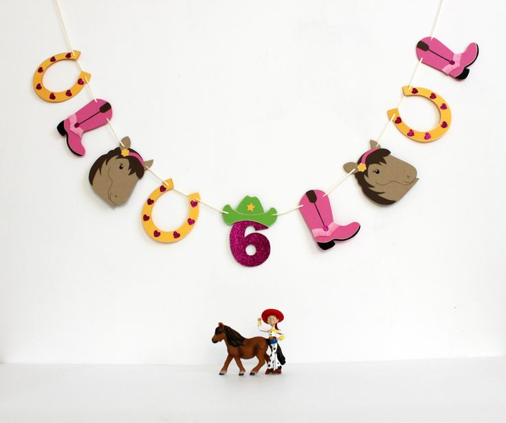 Guirlande Little Cow Girl. Décoration fête. Bannière anniversaire fille. de la boutique DreamBigLittleRoom sur Etsy