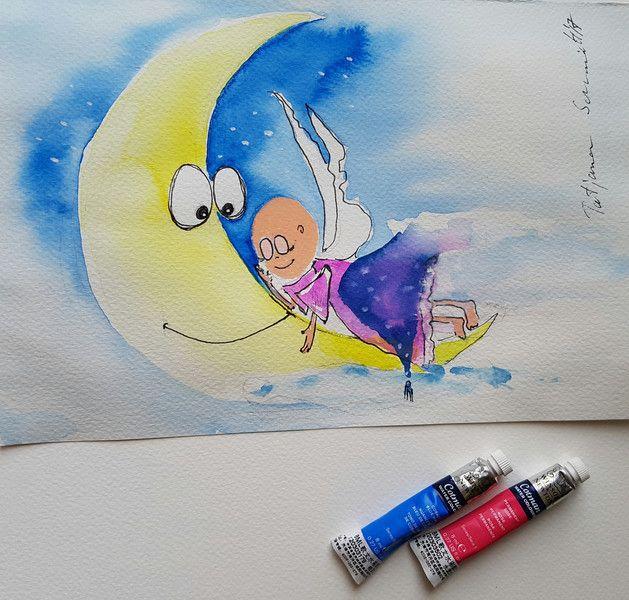 """365 Engel - """"Schlaf schön! Träum was süßes"""" - ein Designerstück von Kunst-Punkt #Angel"""
