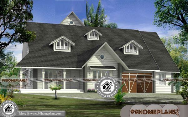 4 Bedroom Bungalow Plan With European Style Gabbled Roof Homes Single Floor House Design House Styles House Front Design