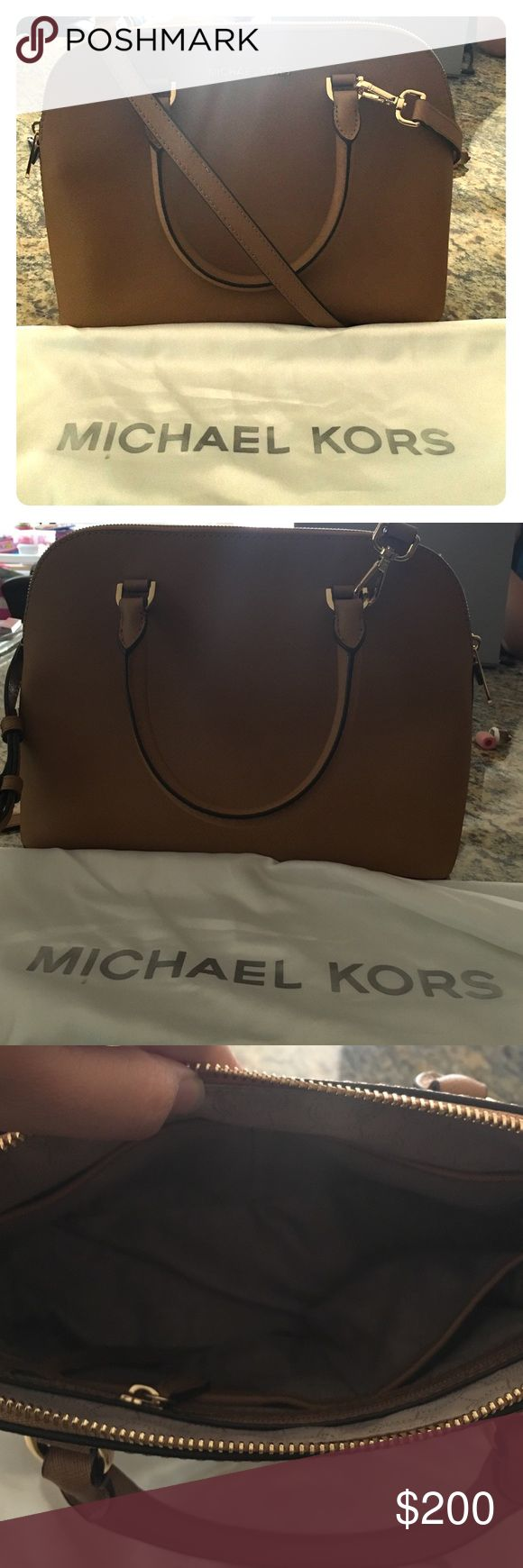 Michael Kors Cindy satchel in peanut Brand new without tag. Never used. Falls on hip. Michael Kors Bags Satchels