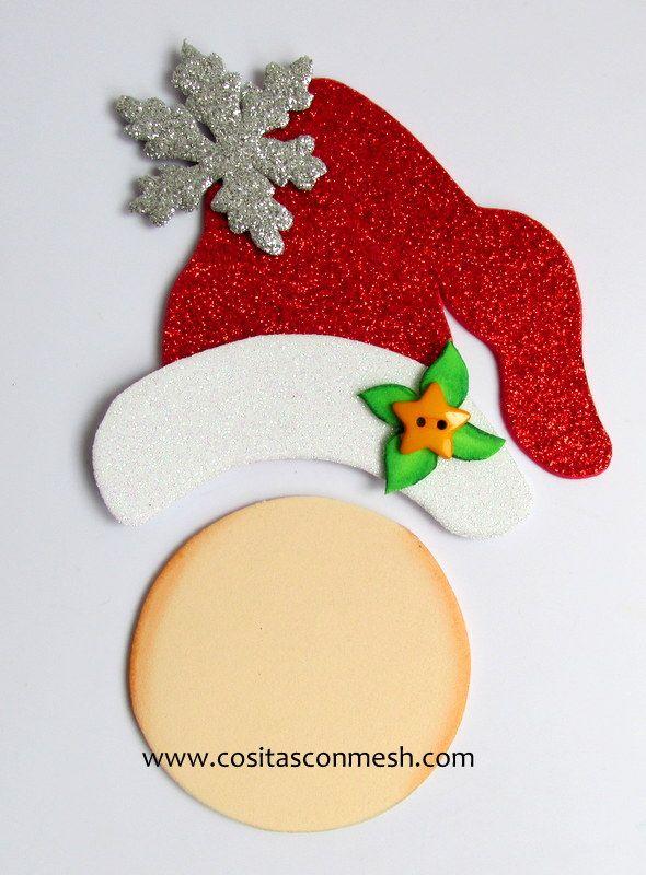 adornos navideos de goma eva para colgar
