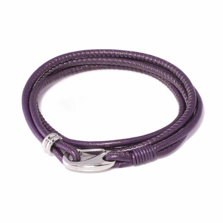 Femme leather bracelet, 29,50€ http://www.taika-korut.fi/product/535/femme-rannekoru-lila