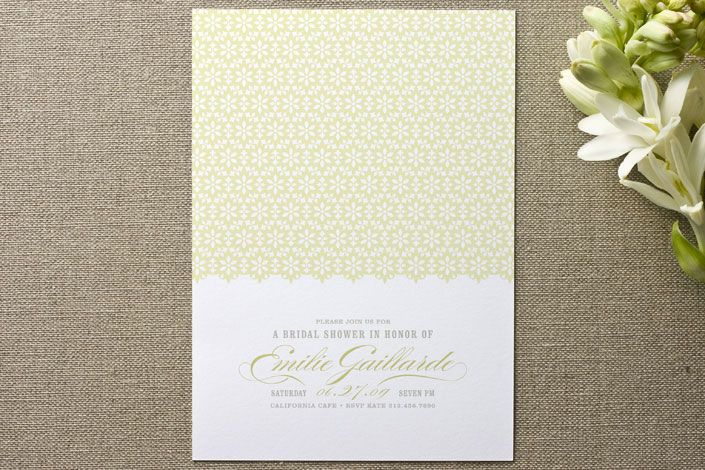 Ella Gant Bridal Shower Invitations By Guess What