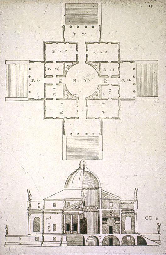 Palladio's Villa, Italy. Villa Rotonda.