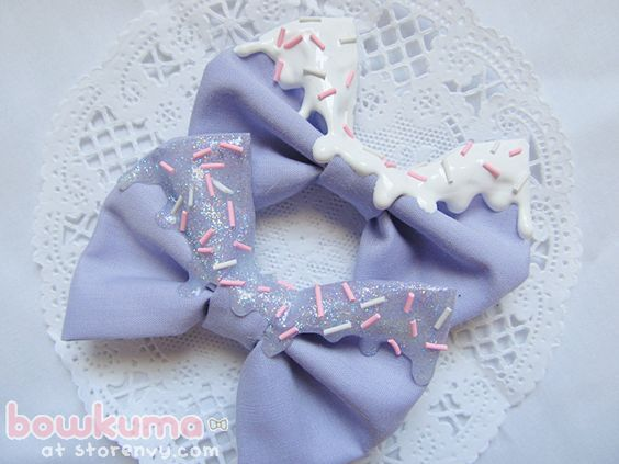 melty ice cream sprinkle bows lilac ~DIY idea to remake your old ...