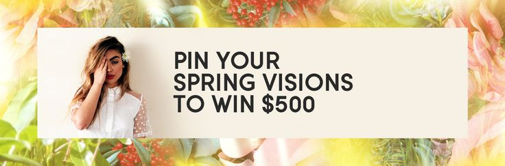Well this is sweet.   Pin Your Spring Visions - Win $500 Need Supply Co. Gift Card