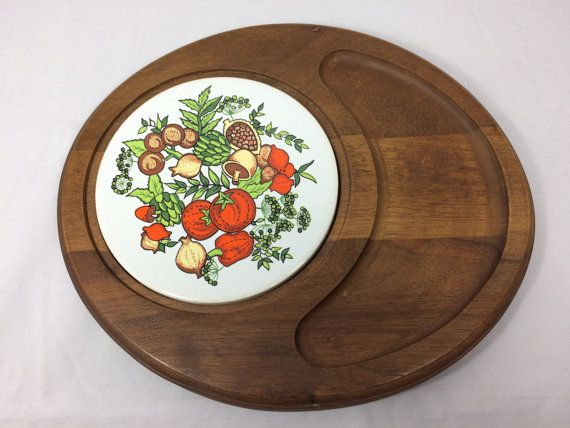 MidCentury Vintage Wood Trivet Serving Tray by MyVintageApartment