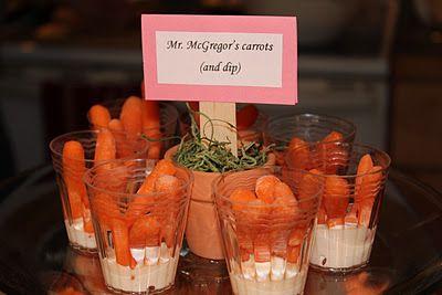More Beatrix Potter party ideas ....love the food ideas
