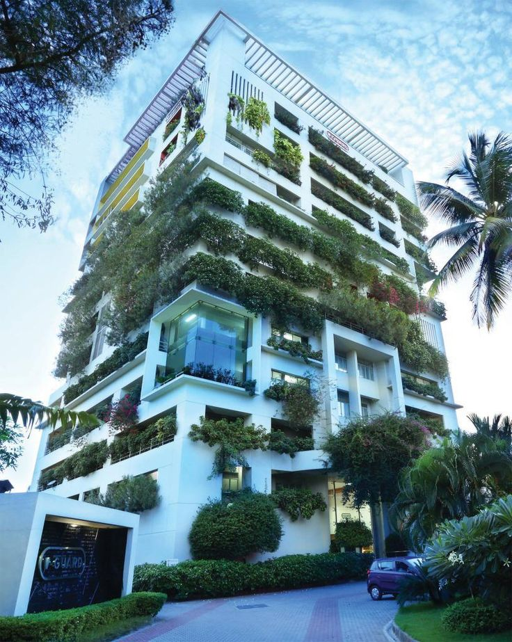 Keerthik Sasidharan On Corporate Offices - 384ft tall apartment will be the worlds first building to be covered in evergreen trees