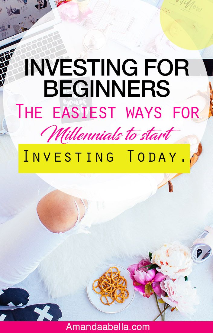 Investing for beginners the easiest ways for millennials to start investing today. We all know that it can be complicated learning how to start investing in the stock market, which is why i love this post it breaks down how to easily start investing your money today. A must read if your goal is to start investing your money this year!