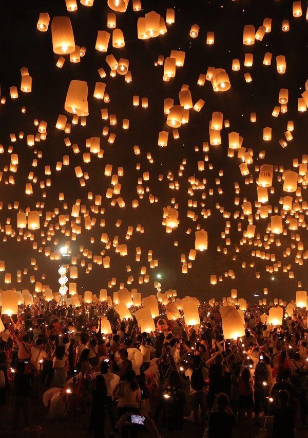 Chiang Mai, Thailand 2015年11月25日に行われたタイ・チェンマイのお祭り「イーペンランナーインターナショナル」の様子です!