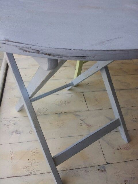 Table painted patinated distressed.
