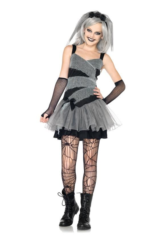 teen girls dearly departed mummy bride kids juniors scary halloween costume new - Cool Halloween Costumes For Teenagers