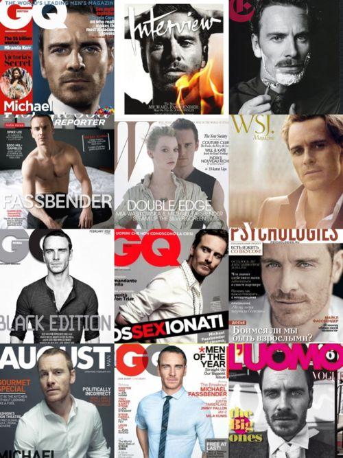 Copertine di riviste con Michael Fassbender