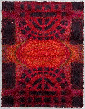 "Rya rug ""Ritva Puotila"", Finland, 1963 There are two of these on sale for 400 and 460 euros at huuto.net if anyone is interested https://www.huuto.net/kohteet/ritva-puotilan-ryijymatto_ryijy-1963-ei-hv/294596620 http://www.huuto.net/kohteet/ryijy-takkavalkea/294758966"