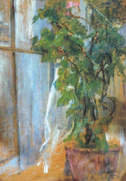 Olga Boznańska, Flowers in the window / Kwiaty w oknie