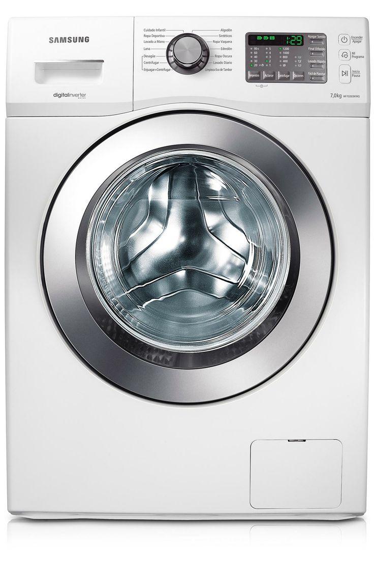 Esta es una lavadora muy tecnológica; està en el cuarto de baño y sirve para limpiar ropas.