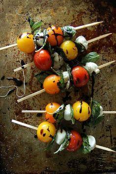 Grilled Caprese Kebabs | heatherchristo.com