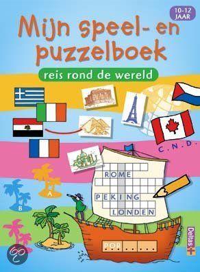 MIJN SPEEL- EN PUZZELBOEK - P. Eliasse - ISBN 9789044715873. Reis rond de wereld. Ben je gek op puzzels en raadsels? Ga dan samen met ons op reis en leer al puzzelend een heleboel over landen en steden in de hele wereld. Dit boek staat boordevol taalspelletjes, woordzoekers, kruiswoordraadsels,....BESTELLEN BIJ TOPBOOKS VIA BOL COM OF VERDER LEZEN? DUBBELKLIK OP BOVENSTAANDE FOTO!