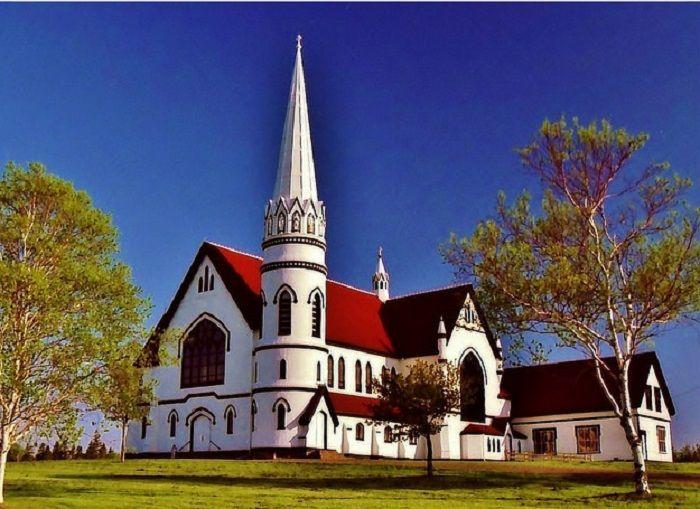 Templos Religiosos -  Igreja de Santa Maria, em Prince Edward Island, no Canadá