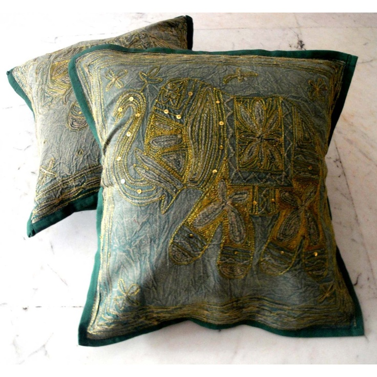 17 Best images about Indian Cushion Covers on Pinterest Traditional, Silk brocade and Cushion ...