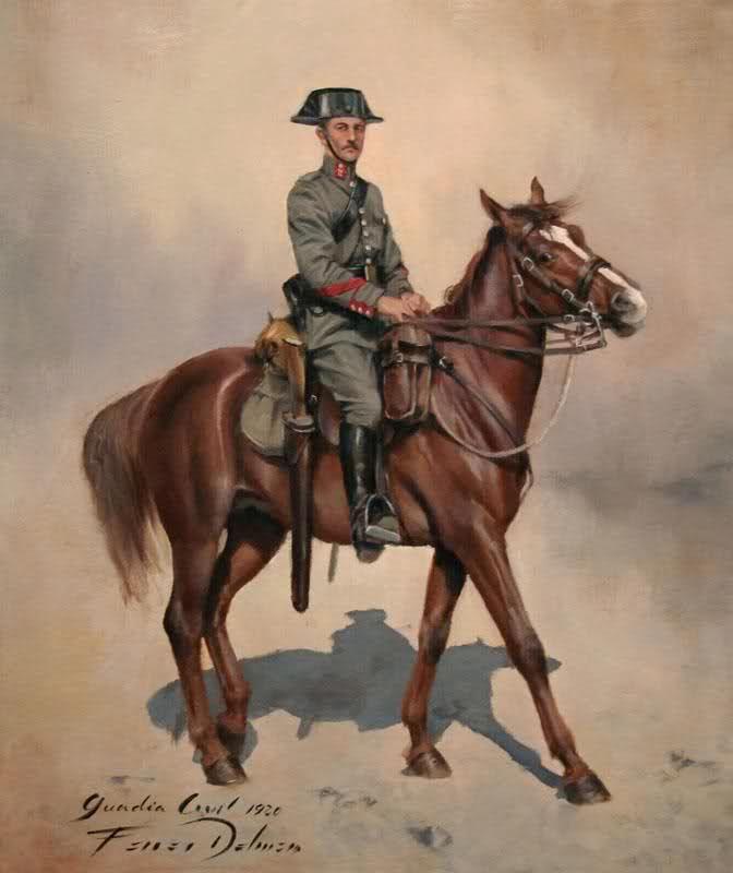 Cabo de la Guardia Civil. Escuadrón de Caballería. Campaña del Rif (Marruecos). 1920, obra de Augusto Ferrer-Dalmau