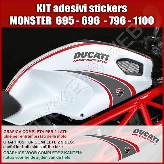 Adesivi Stickers moto motorcycle Ducati Monster di PIMAstickerslab