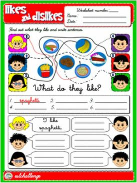 Likes Dislikes Lesson Plans & Worksheets Reviewed by Teachers