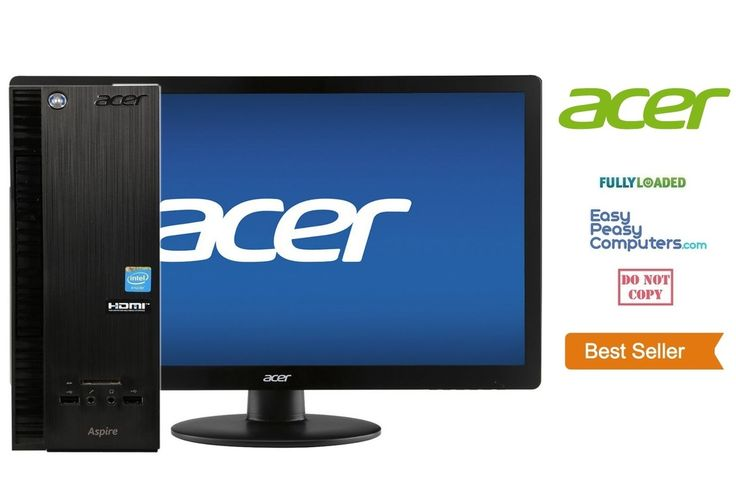 """Cheap Computers - ACER Desktop Computer + 19"""" Monitor Windows 10 DVD+RW 4GB 500GB (FULLY LOADED) - EasyPeasyComputers"""
