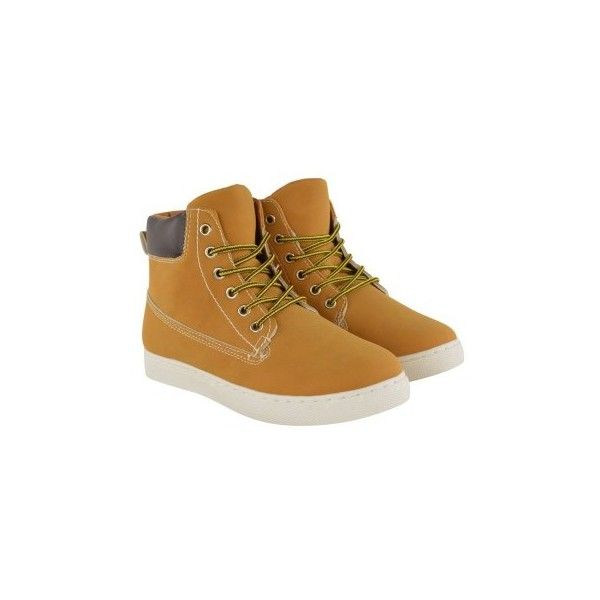 Honey Nubuck Hi Top Worker Boots Keniv ❤ liked on Polyvore featuring shoes, sneakers, nubuck sneakers, high top trainers, nubuck leather shoes, nubuck shoes and high top shoes
