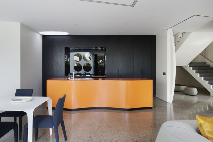 Thoughts on the colour choices in this kitchen? They're certainly striking.
