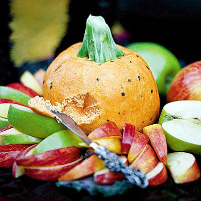 Pumpkin Cheese Ball    Always a crowd-pleaser, our Pumpkin Cheese Ball combines cream cheese, cheddar cheese and a hint of paprika to make a delicious appetizer. Top with a broccoli stalk just before serving to finish the pumpkin look.