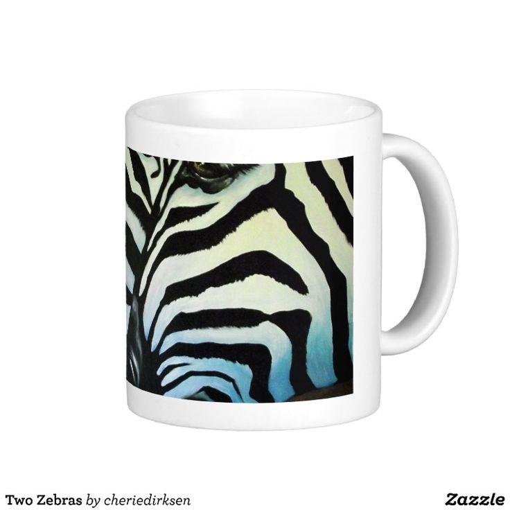 Two Zebras Mugs $17.95 #zebra #mug